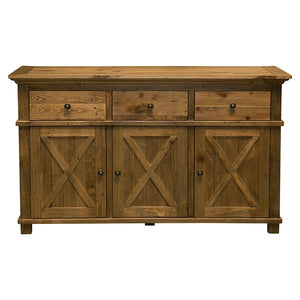 Sorrento Natural 3 Drawer Buffet