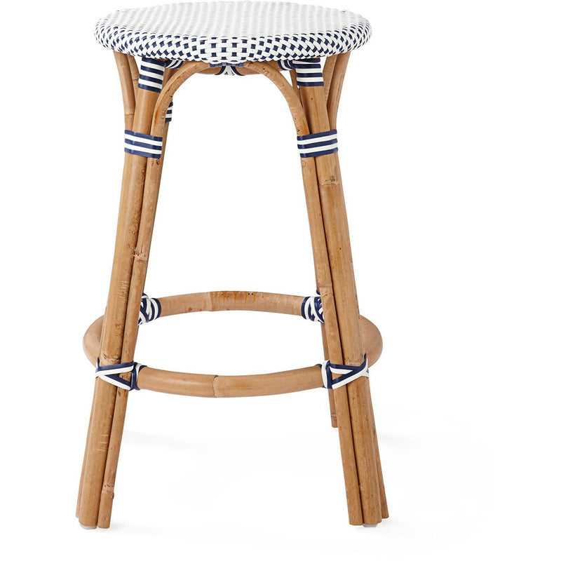 Willow Woven Backless Stool