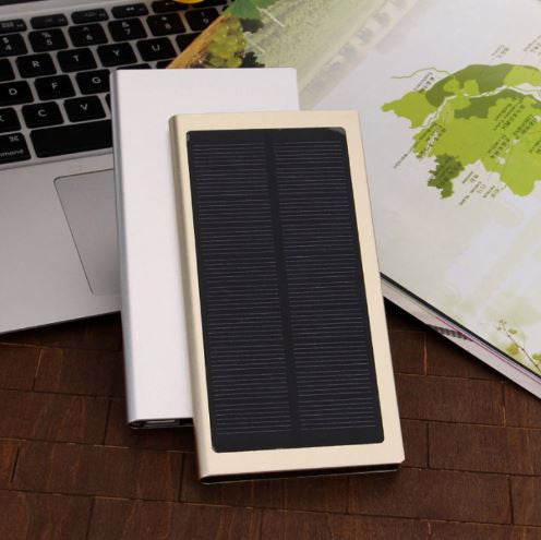 Ultra-thin solar powered battery pack