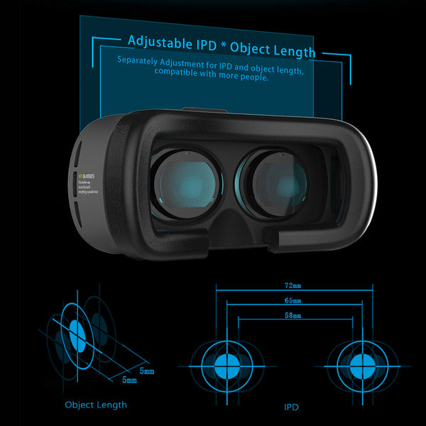 Virtual reality glasses for smart phone