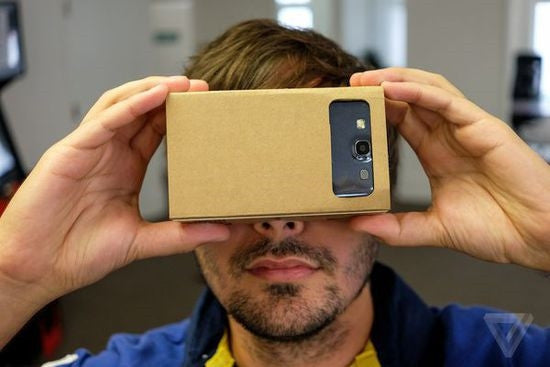 Cardboard virtual reality googles
