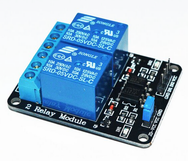 2 channel relay module for Arduino.