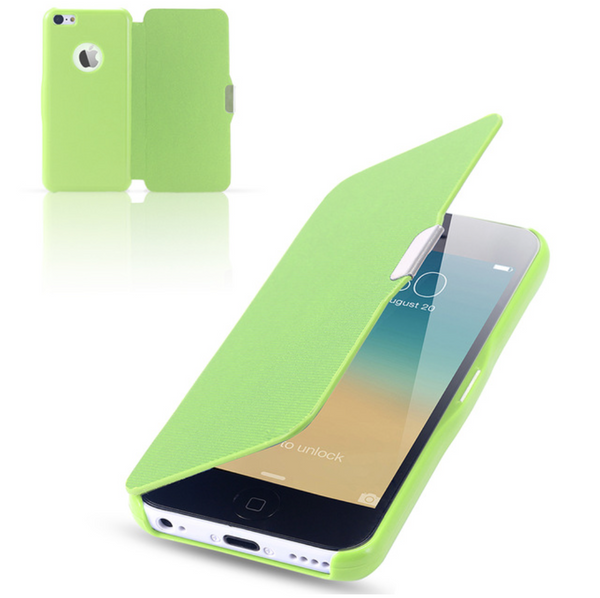 Ultra thin magnetic flip leather case for iPhone 5