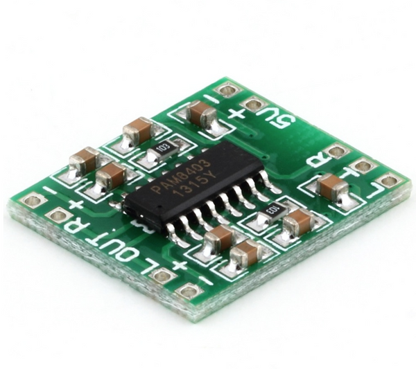 Mini amplifier board for portable speakers and misc