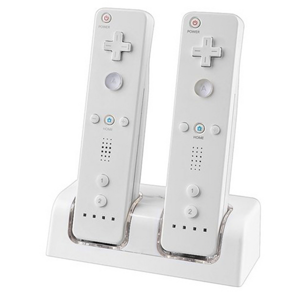 Dual charging dock station + 2x 2800mAh battery pack for Wii