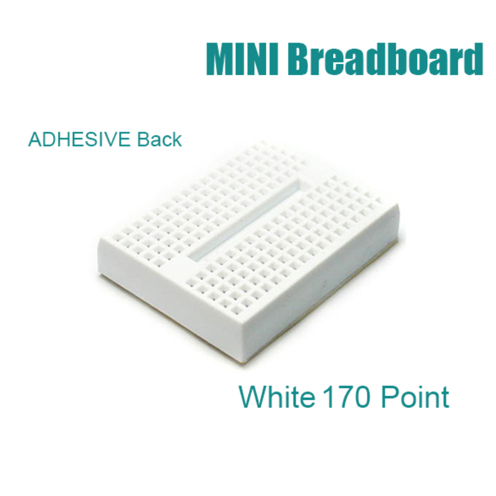 Mini solderless breadboard with 170 tie-points
