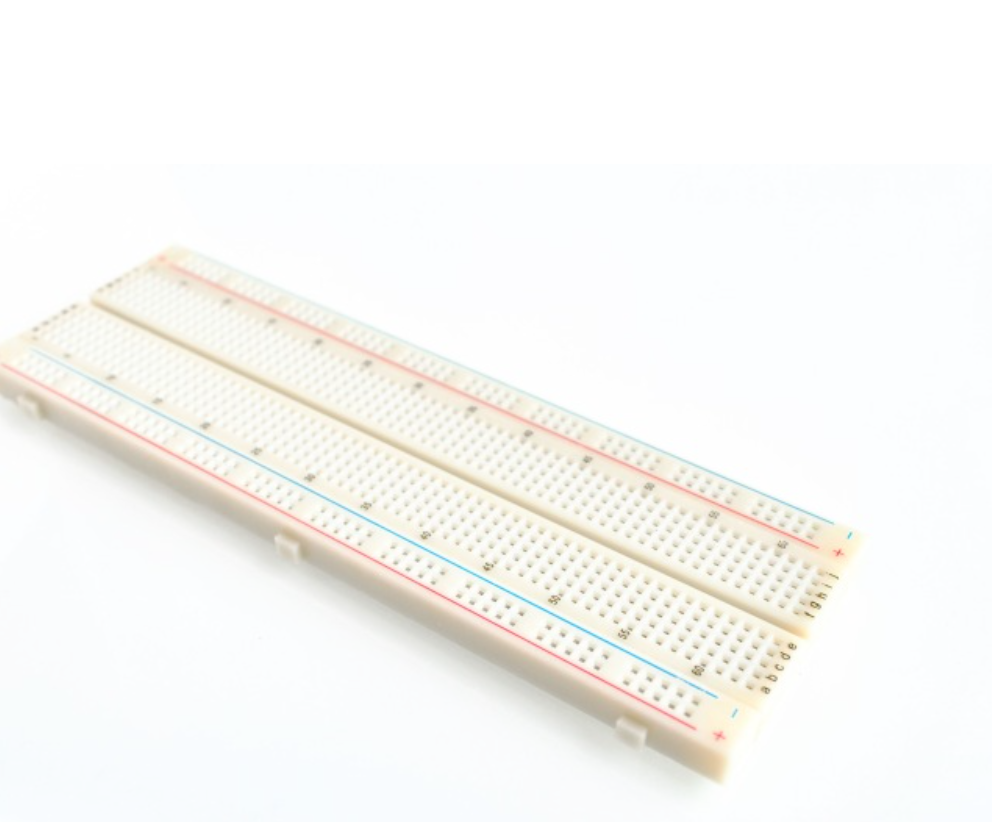 Big solderless breadboard with 830 tie-points