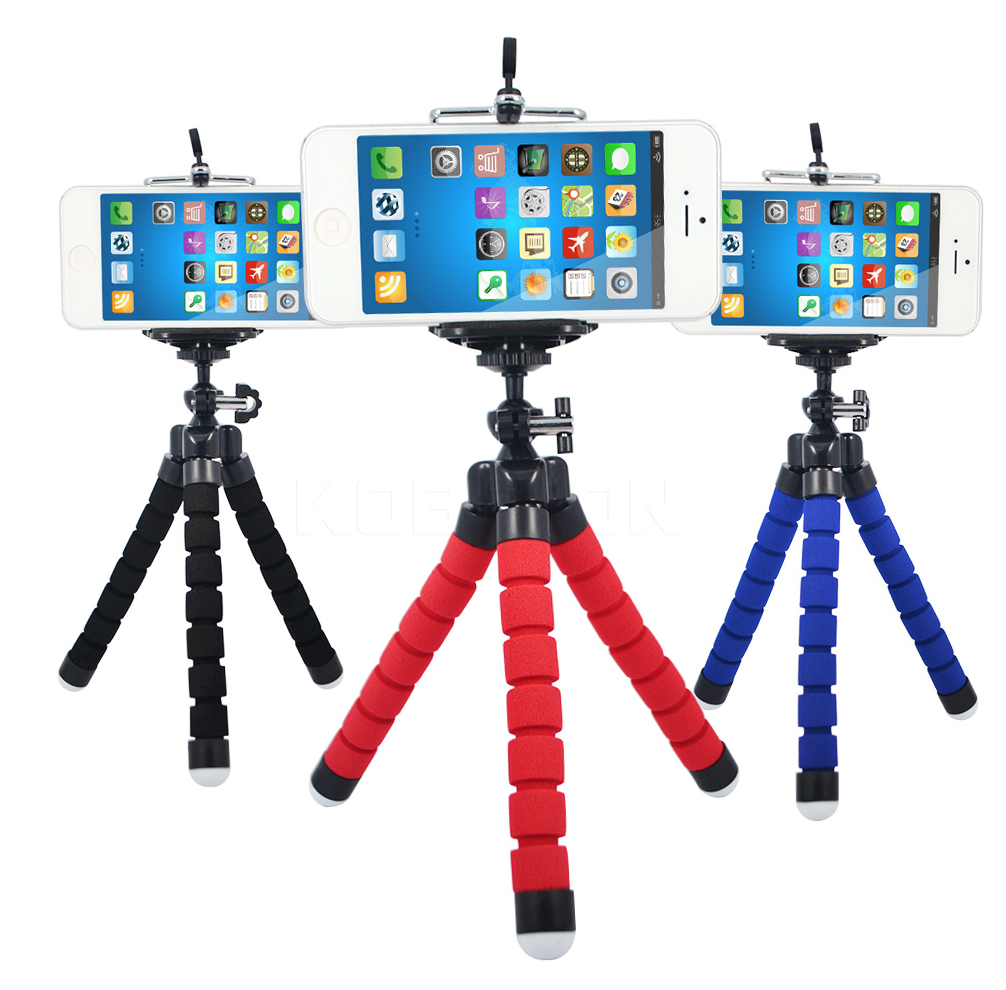 Flexible tripod for smartphones