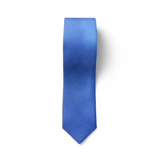 Light Blue Micro Checked Tie