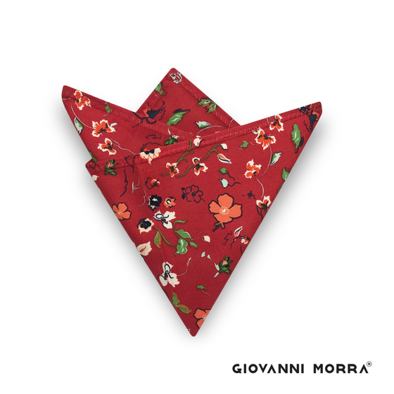 Poppy Pocket Square