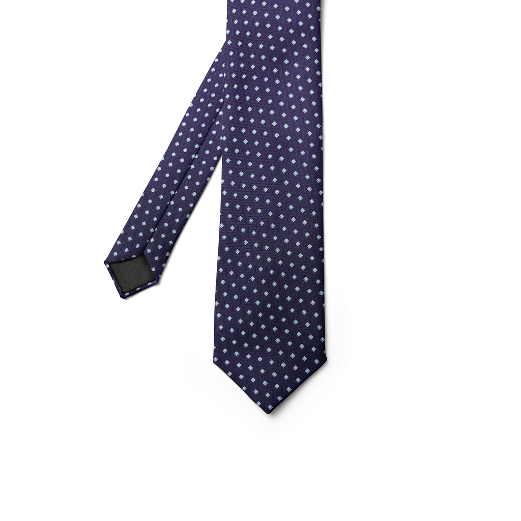 Square Spot Purple Tie