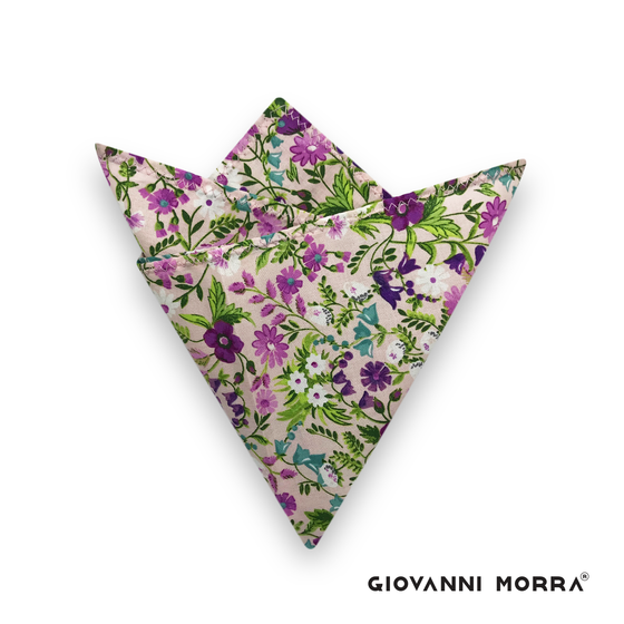 Purple Disco Pocket Square