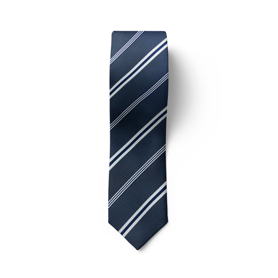 Blue & Silver Striped Tie