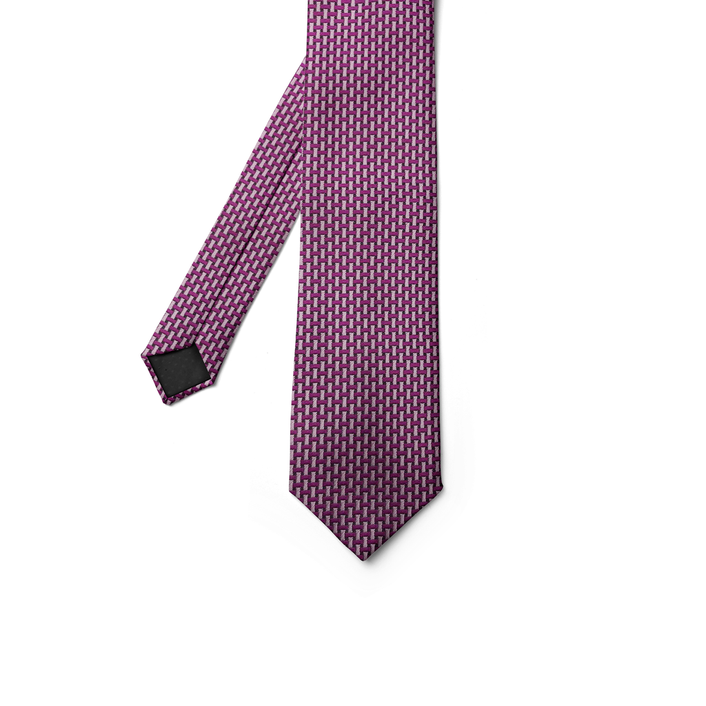 Fucshia & Dusty Pink Patterned Tie
