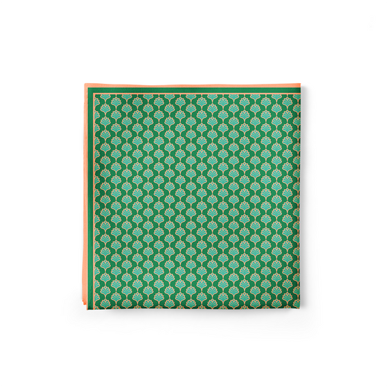 Green Tulips Pocket Square (Small Print)