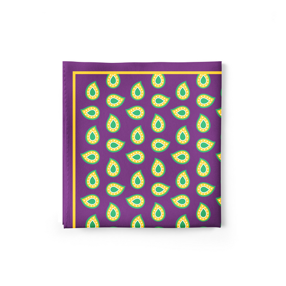 Violet Paisley Pocket Square
