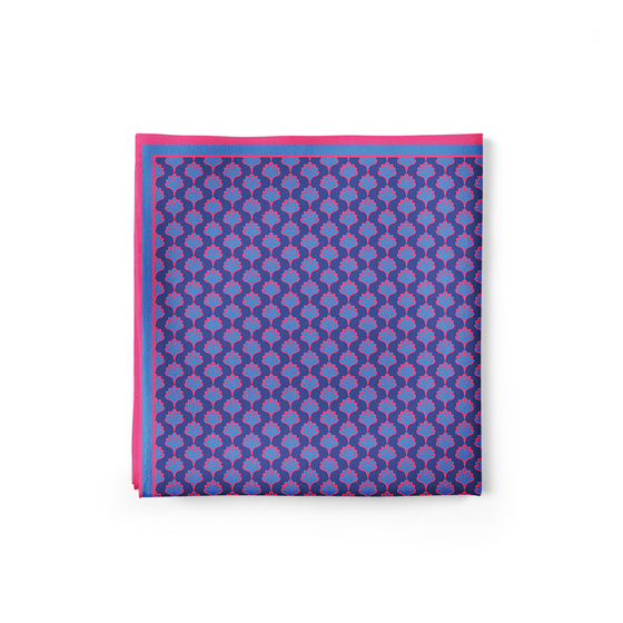 Purple Tulips Pocket Square (Small Print)