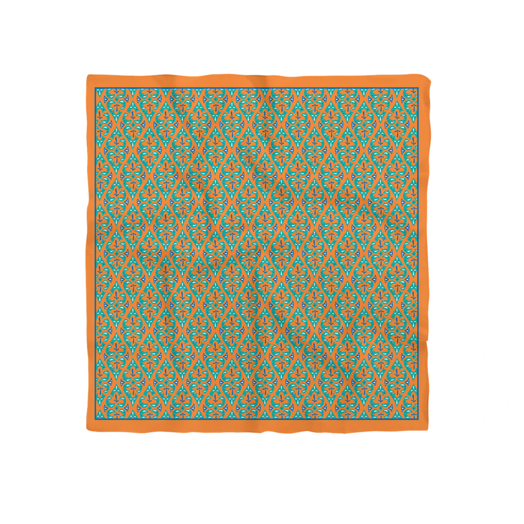 Trfoba Silk Scarf (Orange; 68cmx68cm)