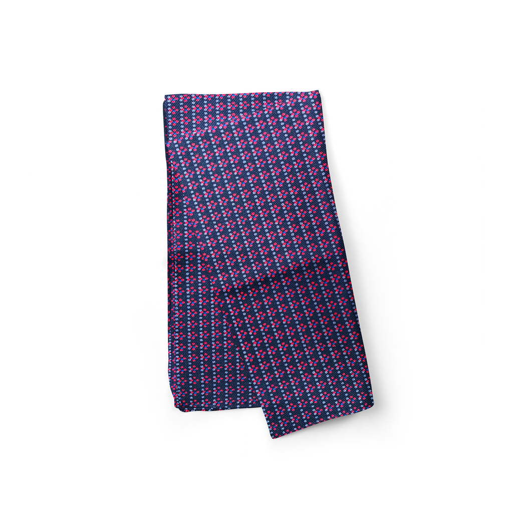 Purple Squares Silk Pocket Square