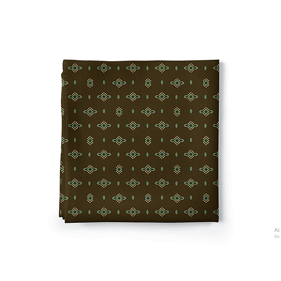 Dotted Diamonds Brown Pocket Square