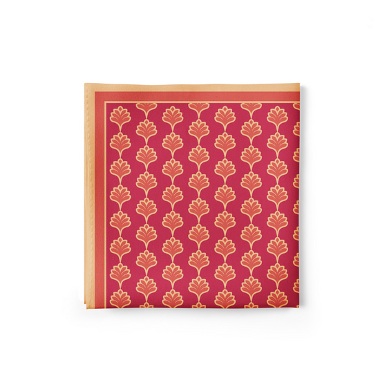 Red Tulips Pocket Square