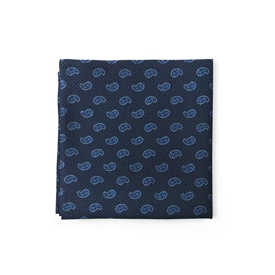 Blue Blaze Pocket Square