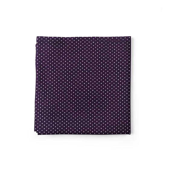 Violet Dots Pocket Square