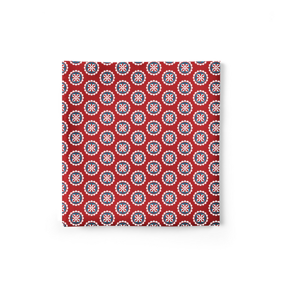 Royal Flower Red Pocket Square