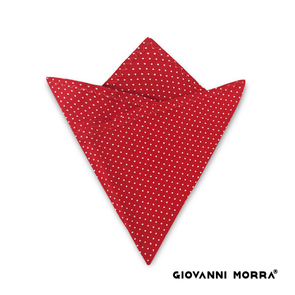 Red Dots Pocket Square
