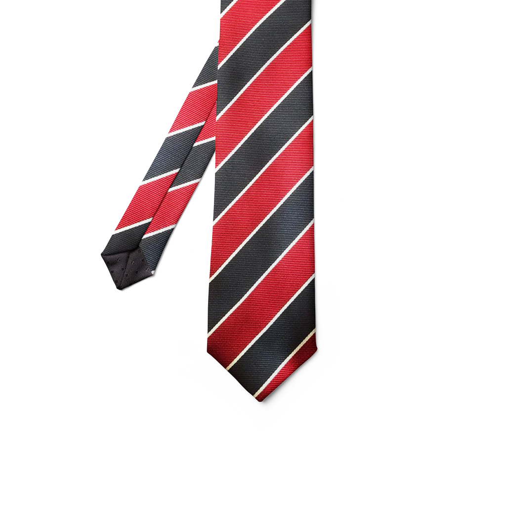 Black & Red Striped Tie