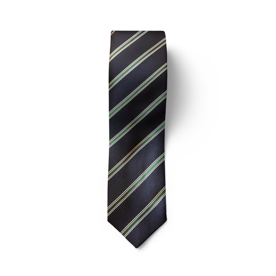 Green & Silver Striped Tie