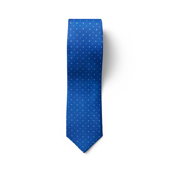 Light Blue Medallion Tie