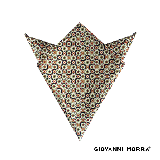 Brown Diamonds Pocket Squares