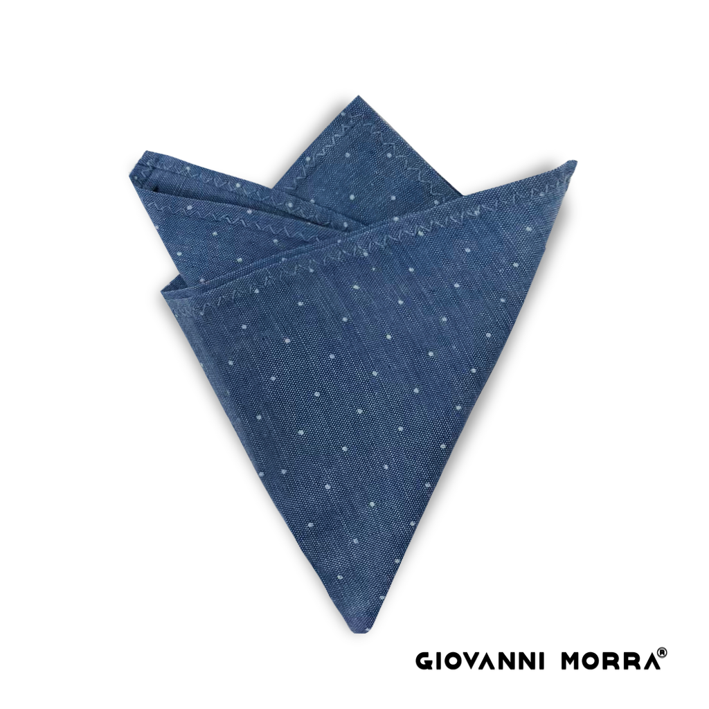 White Dots Pocket Square