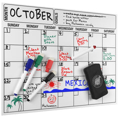 Cameron Frank Products Magnetic Dry Erase Calendar Set