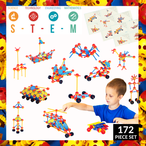 Crafty Connects STEM Inspired Building Toy - 172 Piece Set
