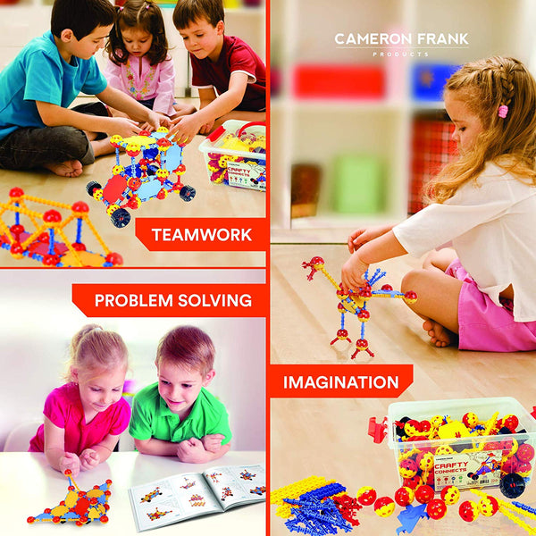 Crafty Connects STEM Inspired Educational Building Toy - 408 Piece Set