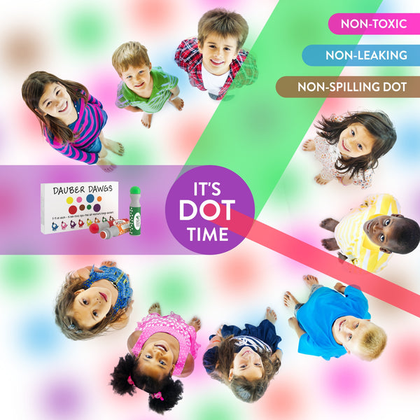 Dot Markers 13 Pack GIFT SET With 121 Activity Sheets For Kids, Gift Set With Toddler Art Activities, Preschool Children Arts Crafts Supplies Kit, Special Holiday Bingo Dabbers Dobbers, Dauber Dawgs