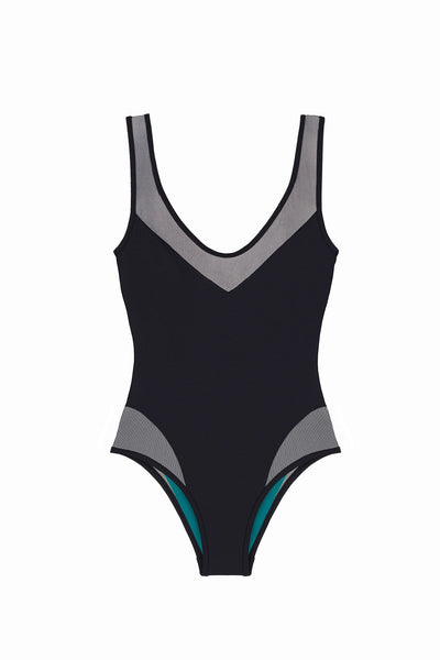 Black One Piece Italian Swimsuit