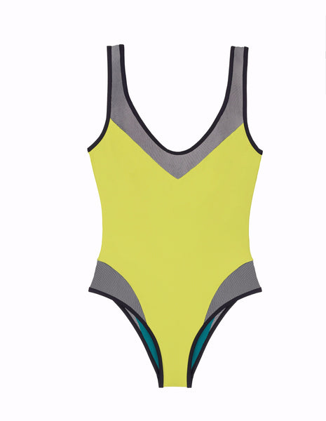 Yellow One Piece Designer Swimsuit