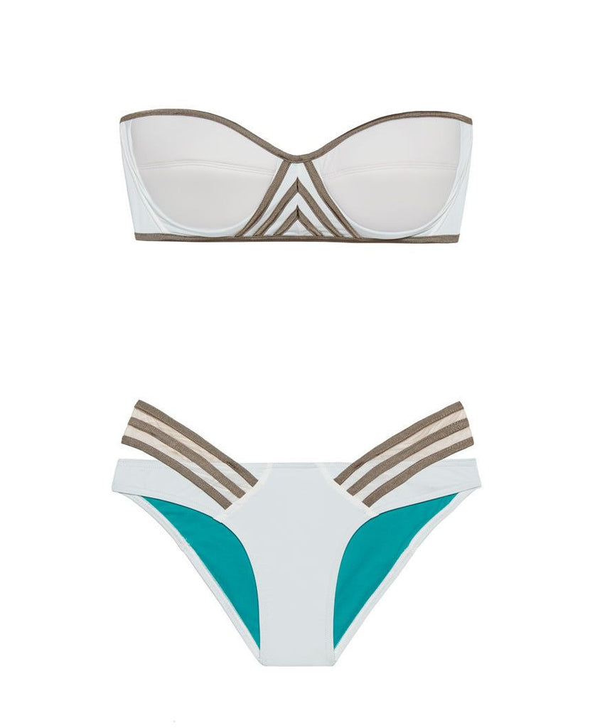 White Designer Women's Bathing Suit