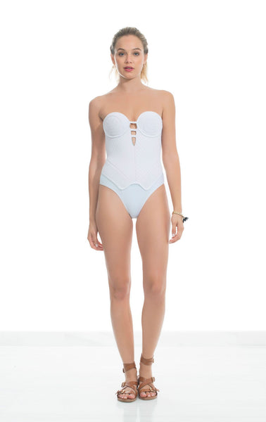 Modeled One Piece Swimsuits