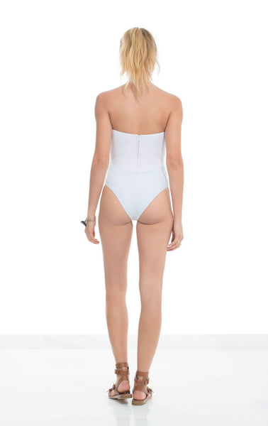Panarea Couture White Swimsuit on Model
