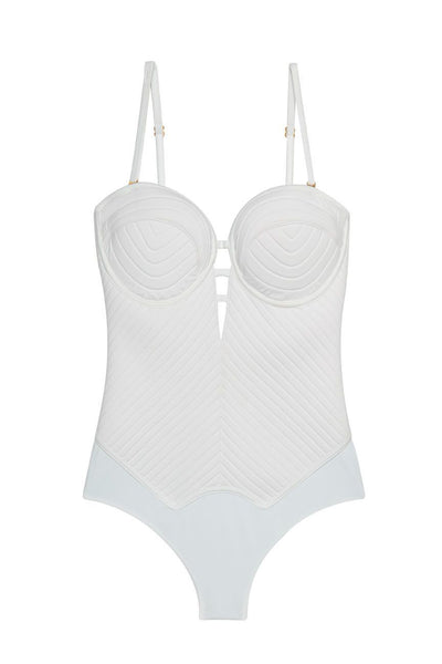 One Piece White Swimsuit - Women's