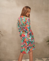 Camilla Shirt Flower Print Dress