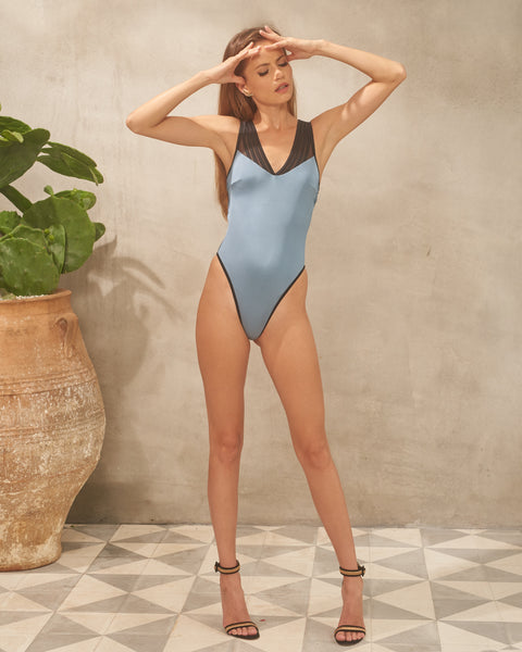 Erica One Piece Swimsuit Blue