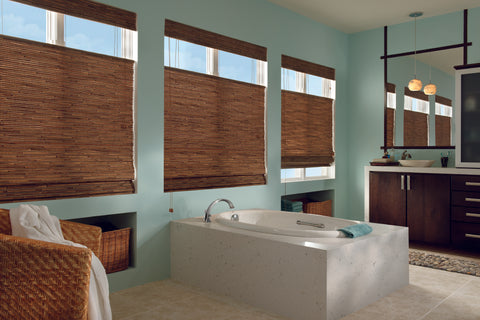 Voom window fashions woven wooden shades residential