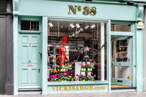 The Vicki Sarge boutique is located in Elizabeth Street, SW1