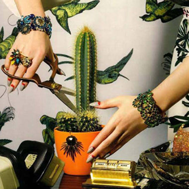 vicki sarge creates luxury costume bracelets and cuffs in Begravia, London