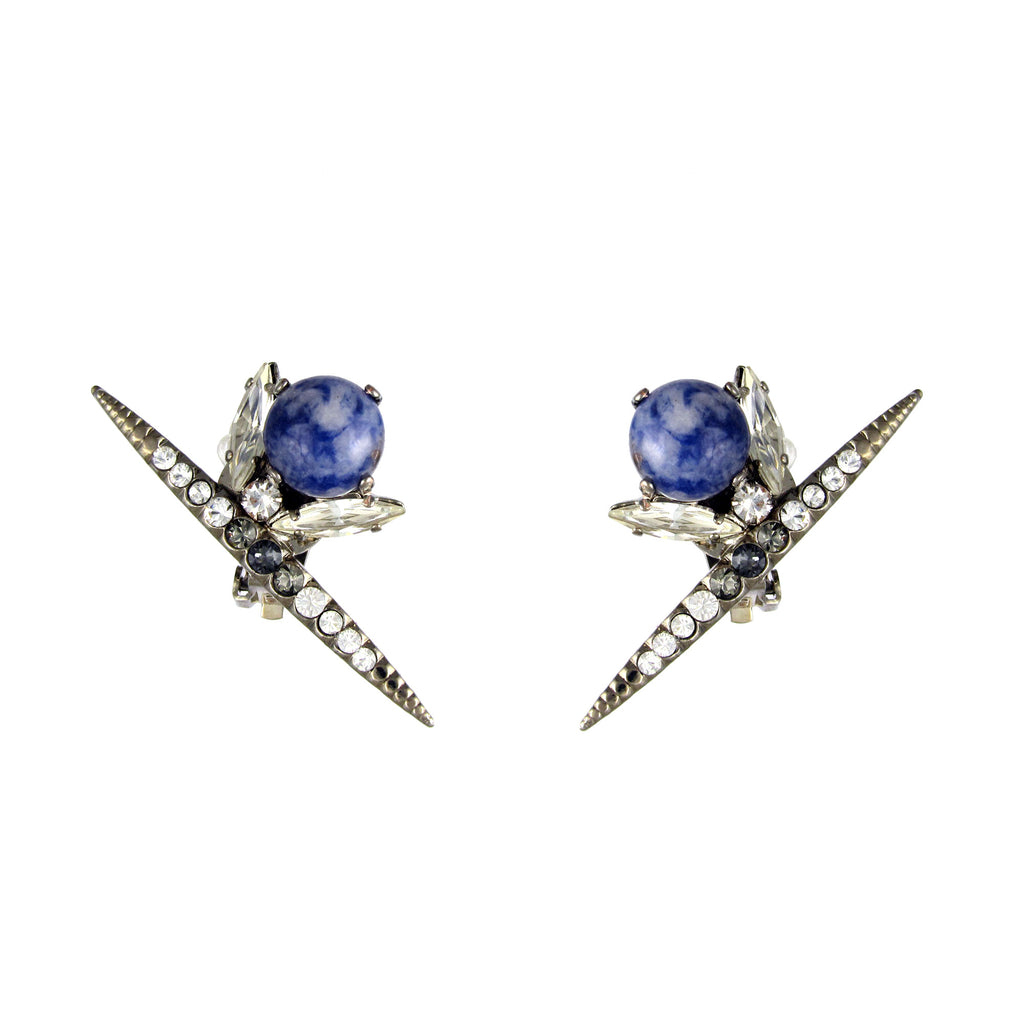 Chrysler Blue Sodalite earrings by Heiter Jewellery